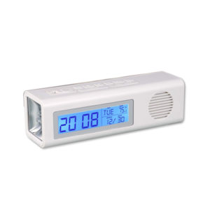 3 in 1 Clock with FM and Torch with Dual power option (with USB wire)
