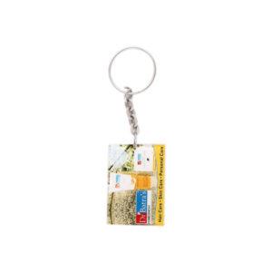 Acrylic Key Chain (White & Yellow)