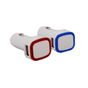 Backlit Car charger (Dual USB ports) (without cable)