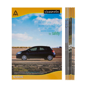 Classmate Long Notebook - Single Line, 172 Pages, 297mm x 210mm (Pack of 12)
