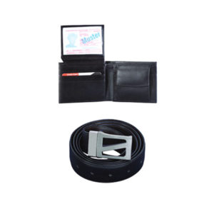 Gents Wallet With Belt Black
