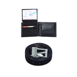 Gents Wallet With Belt Black