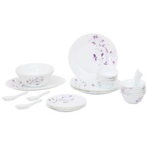 LaOpala Diva Dazzle Purple Dinner Set - 33 Pieces