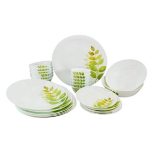 Laopala Diva Ivory Autumn Shadow Pack Of 35 Dinner Sets