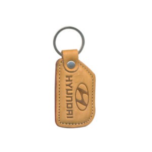 Leather Key Chain (Golden)