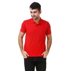 Lotto-Men's-Plain-Regular-Fit-T-Shirt-Red