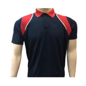 Lotto T-shirt Designer Dry Fit (Navy Blue & Red)
