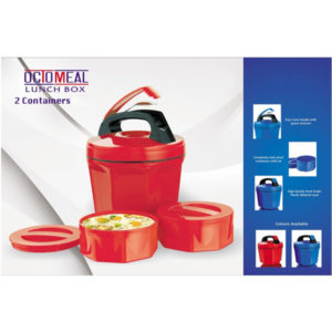 Octomeal Plastic Lunch Box 2 Containers