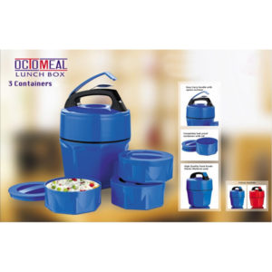 Octomeal Plastic Lunch-Box 3 Containers