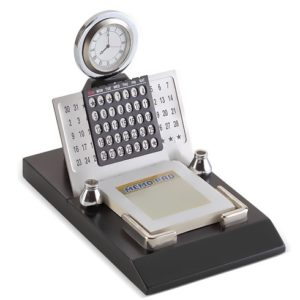 Perpetual Calendar with Memo Pad and Pen Stand