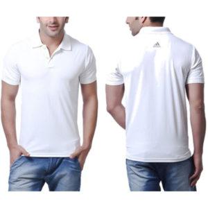 Polo T-shirt (Adidas) White