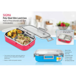 Sigma-Poly-Steel-Slim-Lunch-box-Made-of-Polycarbonate-and-Steel