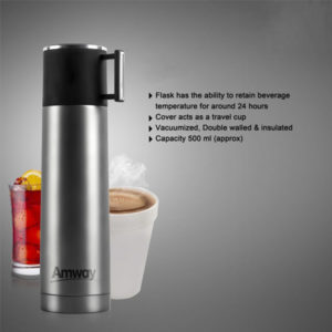Vacuumized, Double Walled & Insulated Flask