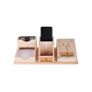 Wooden Desk Accessories (Mobile & Table Clock)