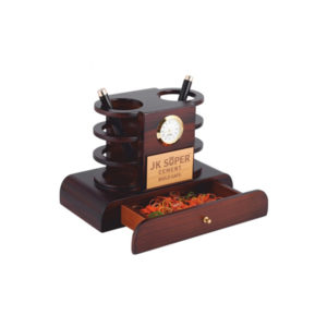 Wooden Pen Stand with Drawer