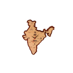 Wooden Wall Clock (India Map)