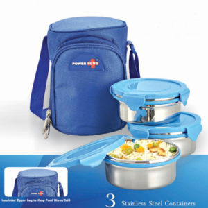 Zippy Lunch Bag- 3 Containers Metal