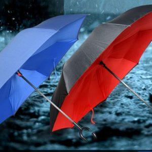 inverted umbrella with handsfree handle