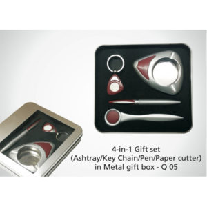 4-in-1-Gift-Set-Key-chain-paper-cutter-pen-ashtray