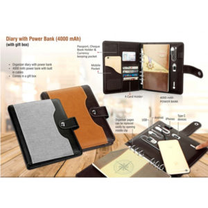 Diary-with-Power-bank-4000-mAh