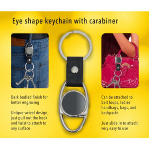 Eye-shape-keychain-with-Carabiner