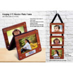 Hanging-3-pc-wooden-photo-frame-with-Metal-plate-4x6-size