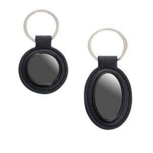 Round-Metal-Keychain-with-PU-Base