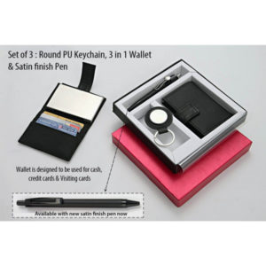 Round-PU-Keychain-3-in-1-wallet-For-cash,-cards-and-visiting-cards