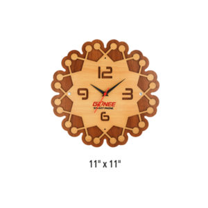 Wooden Wall Clock (Flower Shape)