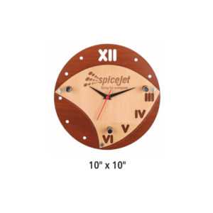 Wooden wall Clock (Round Shape)