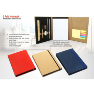 3-fold-notebook-with-wooden-stationary-set