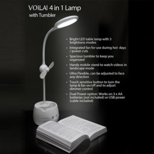 4 in 1 Lamp with Tumbler