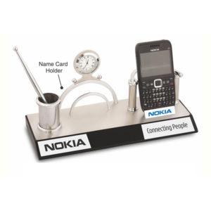 4 in 1 Mobile Stand | Name Card Holder | Pen Stand | Clock