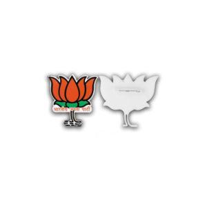Acrylic Badges Lotus Shape