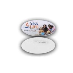 Acrylic Badges Oval Shape