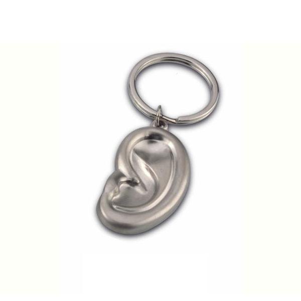 Ear-shape-metal-keychain