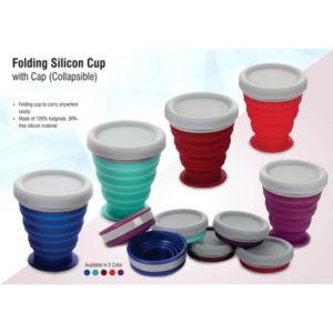 Folding-silicon-cup-with-cap