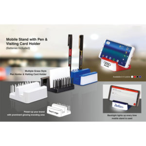 Mobile-stand-with-Pen-and-visiting-card-holder