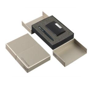 Parker-Frontier-Matte-Black-Ct-Roller-Ball-Pen Card-Holder