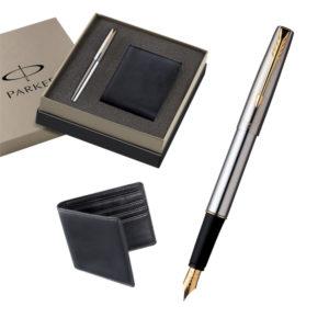 Parker-Frontier-SS-Gt-Fountain-Pen-+-Leather-Wallet