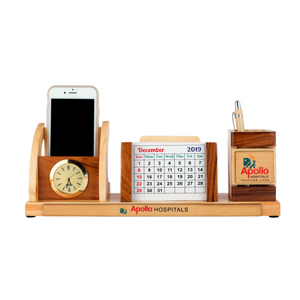 Pen-Stand-With-Coaster-Plates-Clock-Calendar