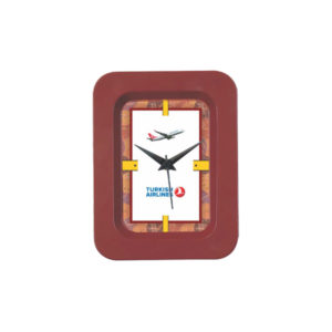 Table Clock (Rectangle) (Brown)