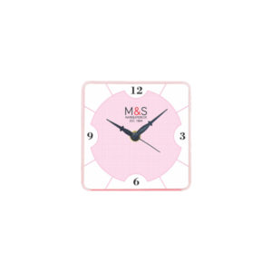 Table Clock (Square) (Pink)