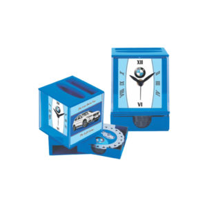 Table Clock With Coaster Set (Blue)