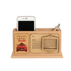 Wooden-Desktop-Calendar-With-Mobile-and-Pen-Stand