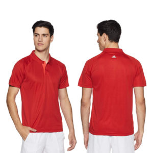 Adidas-Men's-Polo-Red-T-shirts