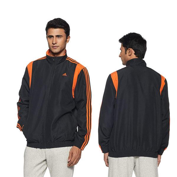 Adidas-Men's-Synthetic-Track-Jacket-Orange
