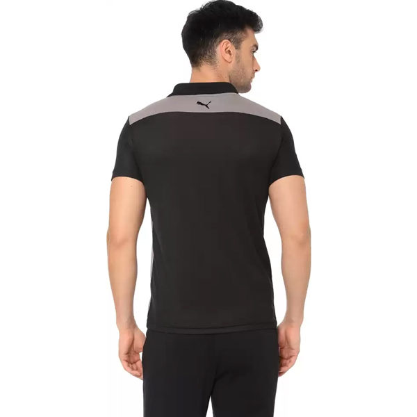 Puma-Color-Block-Men-Polo-Neck-Black-T-Shirt