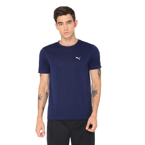 Puma-Men's-Plain-Regular-Fit-Active-Base-Layer-Shirt-Blue